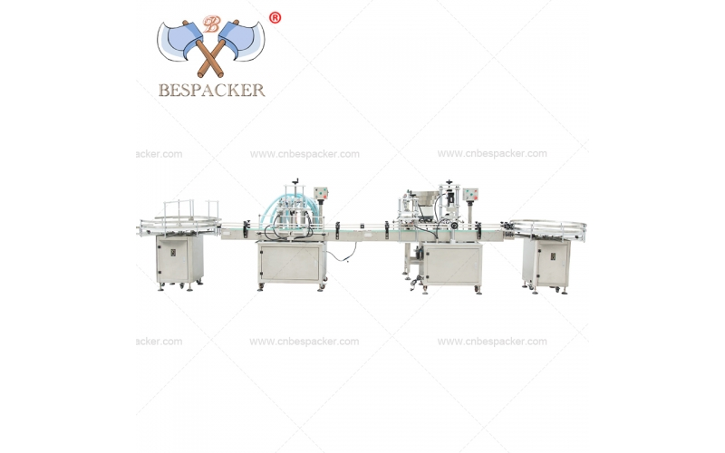Bespacker linear automatic mineral water bottle liquid filling and capping flow line