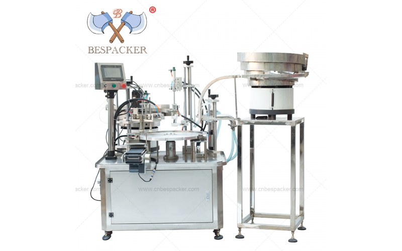 Bespacker 2 in 1 automatic rotary cosmetic cream small oil vials bottle filling and capping machine