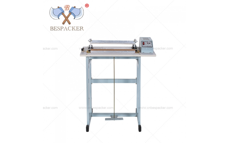 Bespacker SF-600 with seal and cutter impulse foot pedal heat sealer machine